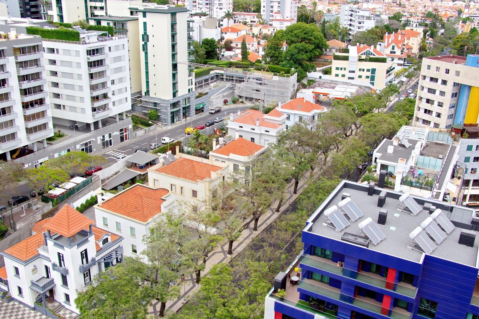 vista de cima da Avenida do Infante