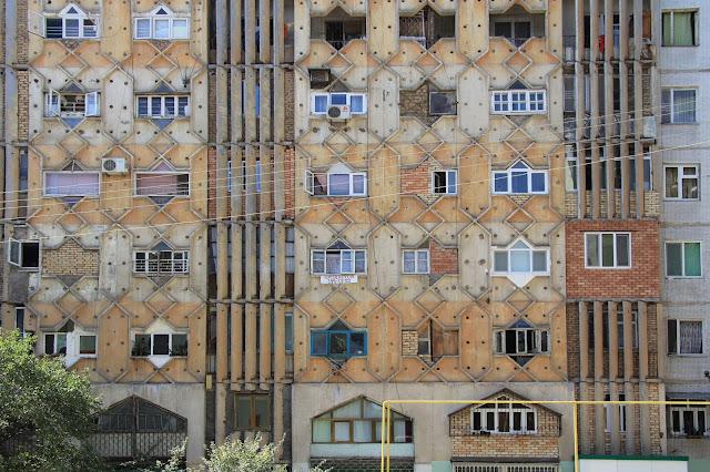 Ouzbékistan, Tachkent, façade, Quartier Labzac, © L. Gigout, 2012
