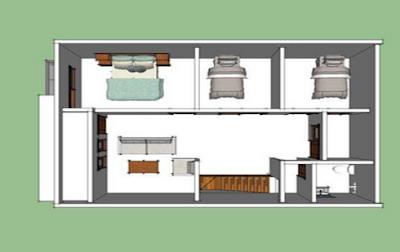 model denah rumah minimalis 6x12