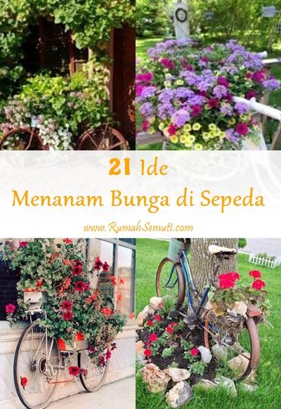 21 Ide Menanam Bunga di atas Sepeda