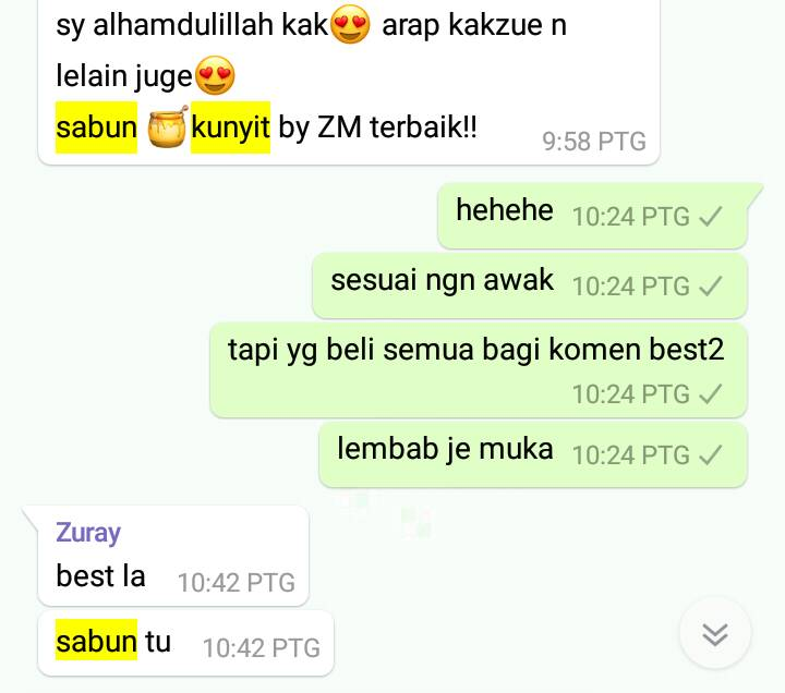 TESTIMONI SABUN KUNYIT + MADU BY ZM BEAUTY