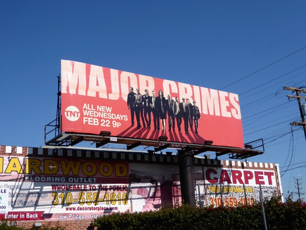 Major Crimes midseason 5 billboard