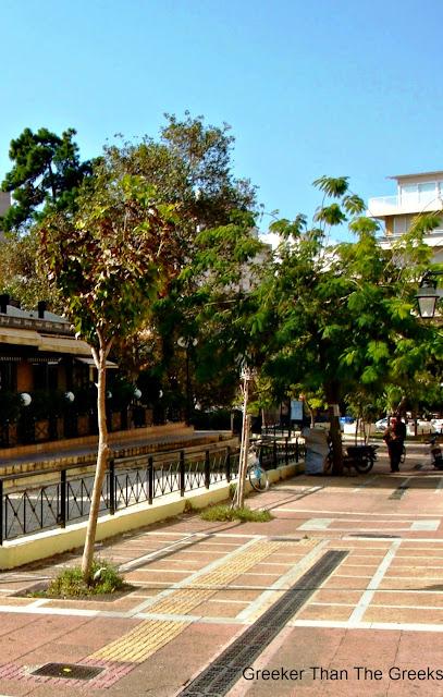 """""""Odos Pein"""" Pein Street. Loutraki Greece"""