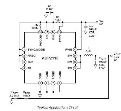 3.3V from 5V Power Supply Circuit Diagram