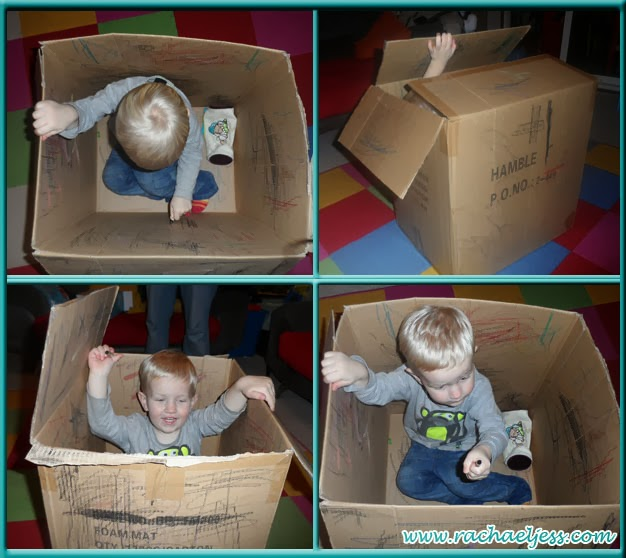 Give a child a box and some crayons and they will have fun for hours