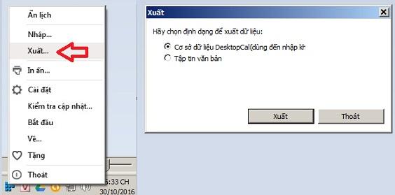 DesktopCal - phan mem Lich am duong, ghi chu tren man hinh desktop 10