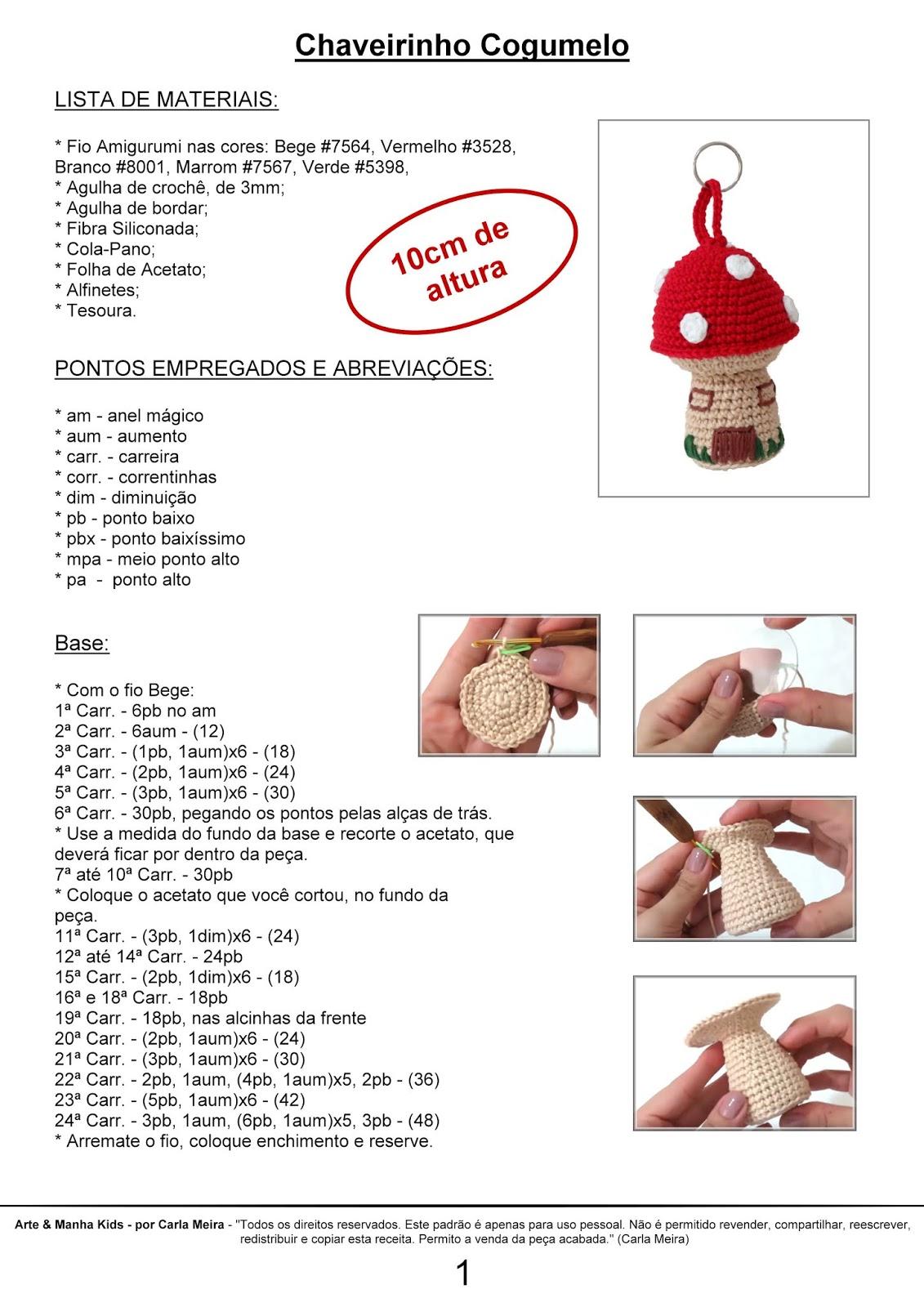 Amigurumi - Raposa - Receita Grátis | Modelo de bebê de crochê ... | 1600x1131