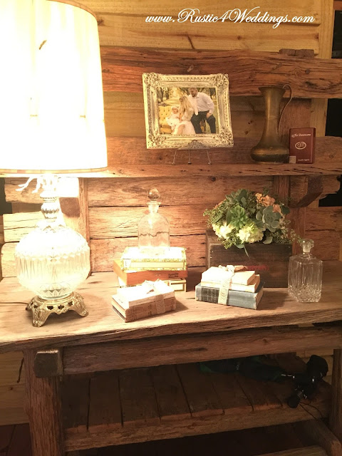 Accent Table at Rustic Beach Wedding