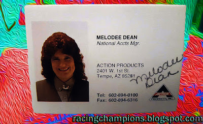 Melodee Dean Action Racing Champions 1/64 NASCAR diecast blog 1989