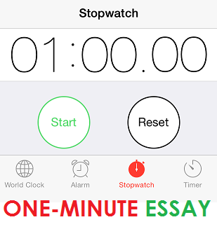 one minute essay