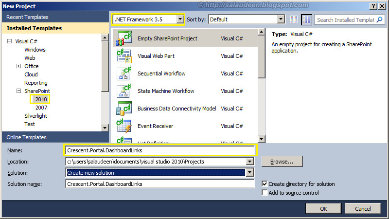 sharepoint 2010 list instance visual studio