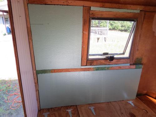 foam insulation in a fiberglass trailer