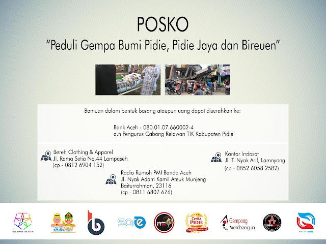 Posko Relawan TIK Aceh dan Komunitas