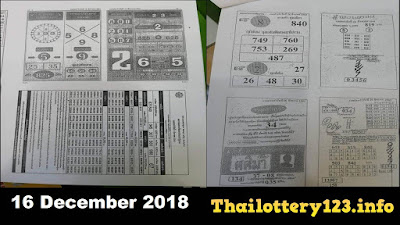 Thai Lottery First Paper Full Magazine Tips 16 December 2018