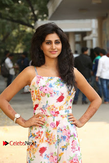 Actress Shamili Stills in Floral Short Dress at Sree Ramaraksha Song Launch 0071