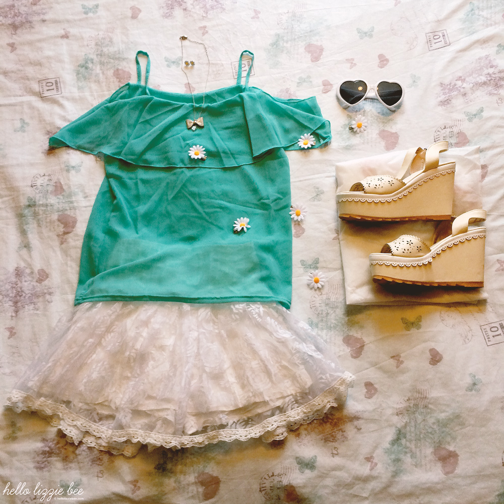 summery gyaru outfit