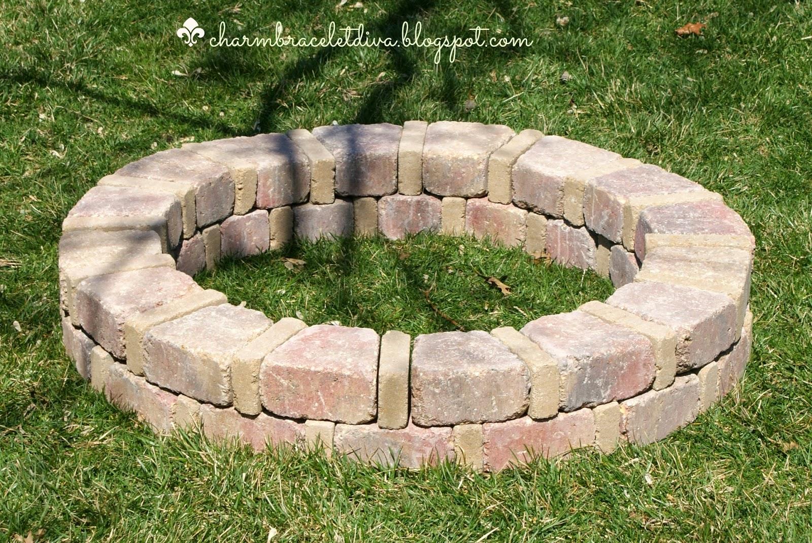 DIY fire pit ring