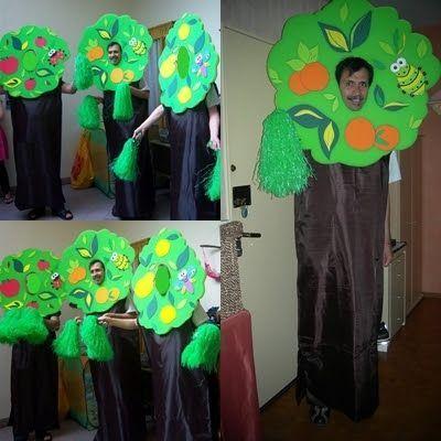 Disfraz casero de árbol frutal