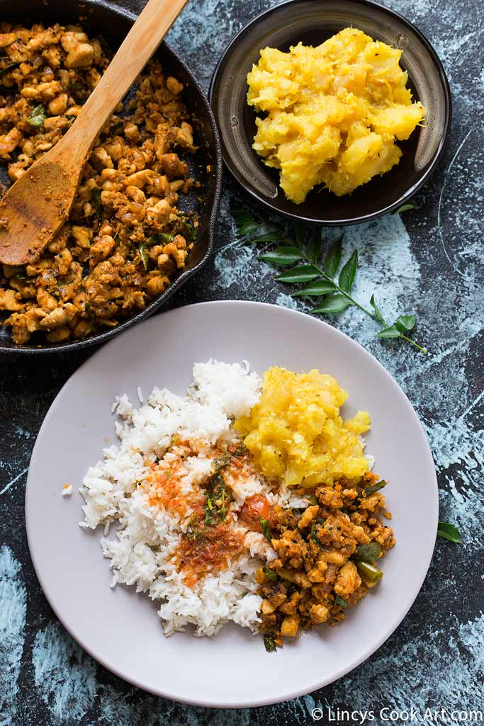 Kerala style chicken stir fry