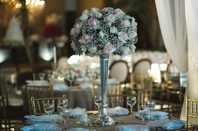 casamento real, recepção, porto vittoria, decoração, branco azul e rosa