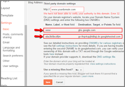 setup namecheap domain to blogger