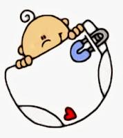 bebé con pañal