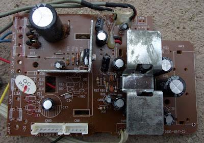 Placa da fonte e amplificador