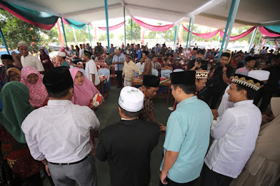 M.Ridho Ficardo Halal Bihalal Dan Resmikan Balai Kampung Tanggulangin, Lampung Tengah