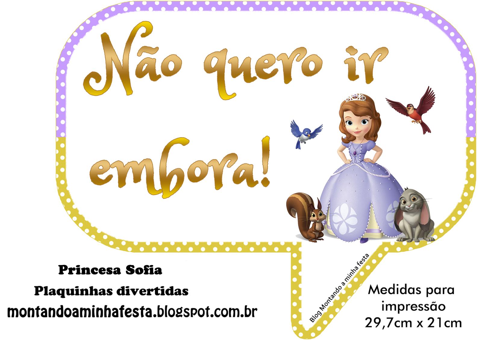 2 Mesversario Frases: Plaquinhas Divertidas Princesa Sofia Disney
