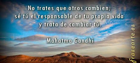 Frases de paz, Mahatma Gandhi