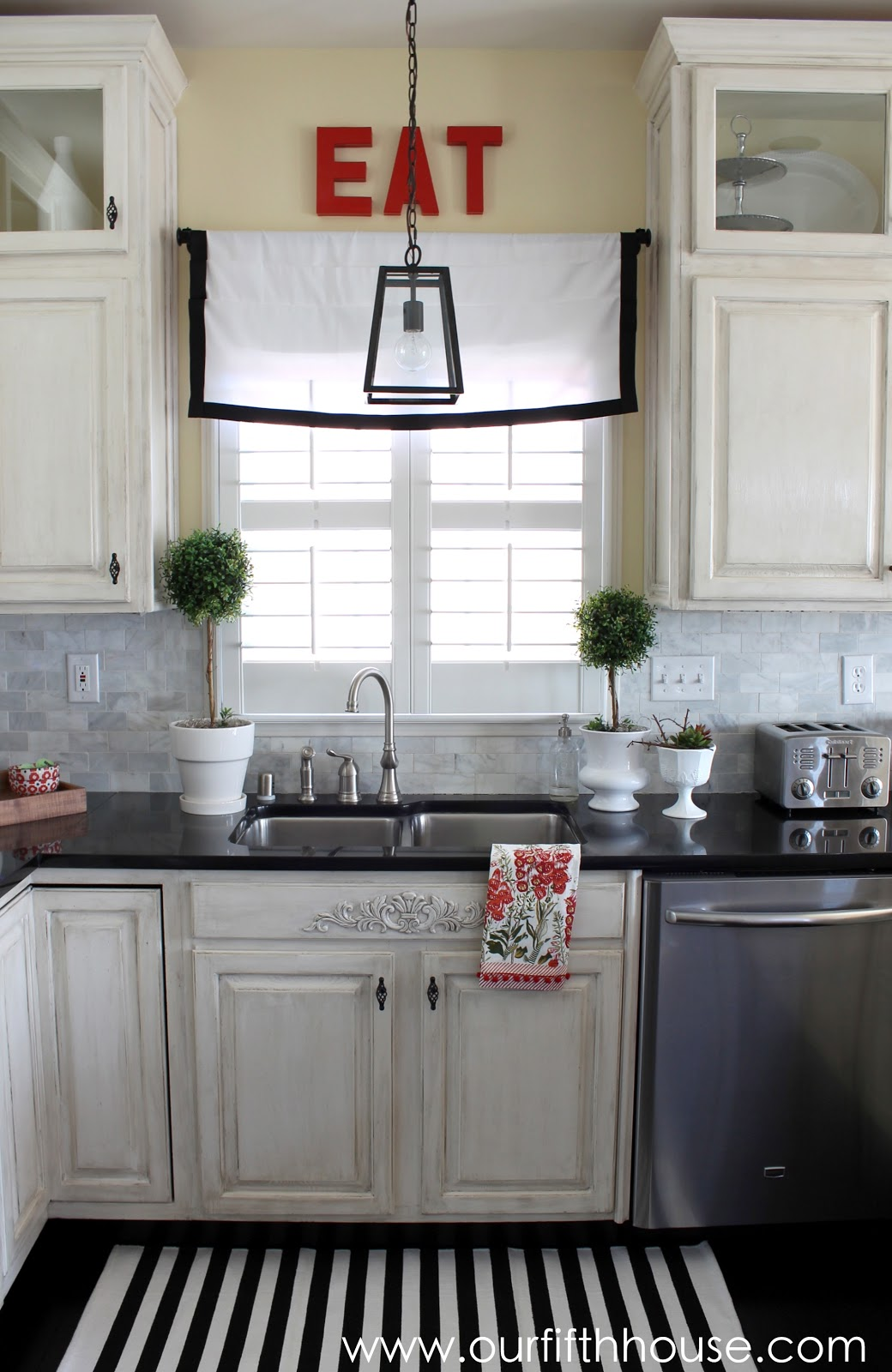 Our Fifth House: New Kitchen Lighting - A Lantern Over the ...