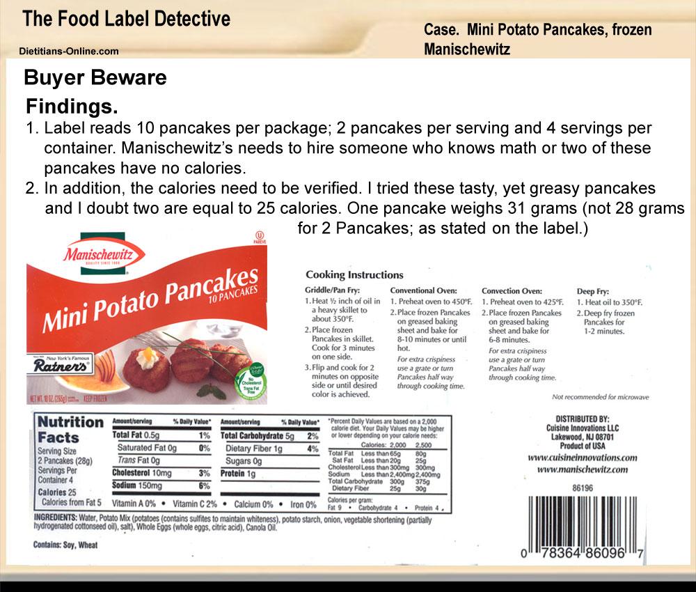 Dietitians Online Blog: The Food Label Detective: Case