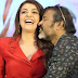 Kajal Aggarwal forcibly kissed by Chota K Naidu at Kavacham teaser launch