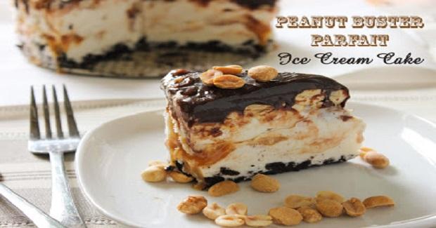 Peanut Buster Parfait Ice Cream Cake Recipe