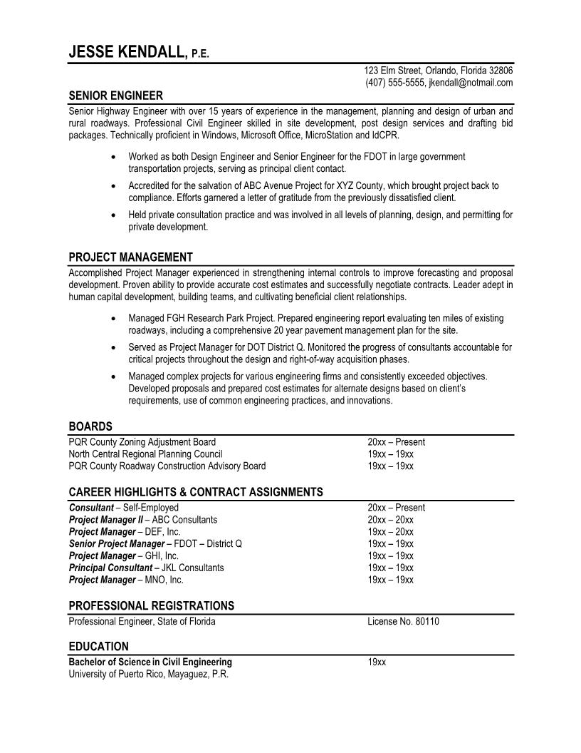 7 Samples Of Professional Resumes  It Professional Resume Sample