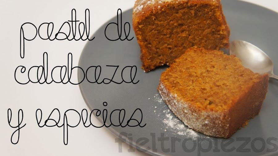 pastel de calabaza y especias