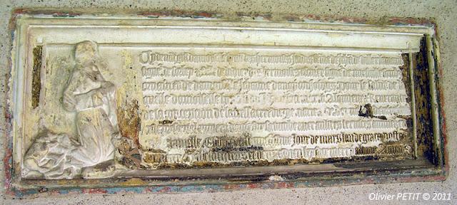 METZ (57) - Le cloître des Récollets - Epitaphe