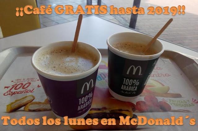 café gratis McDonalds lunes
