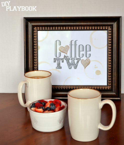 Coffee for two frame free printable