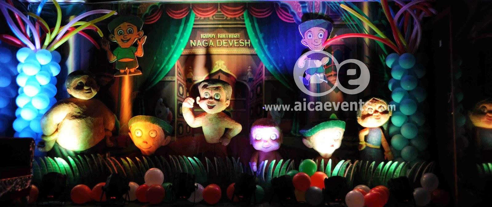 Aicaevents India Chhota Bheem Theme Decorations