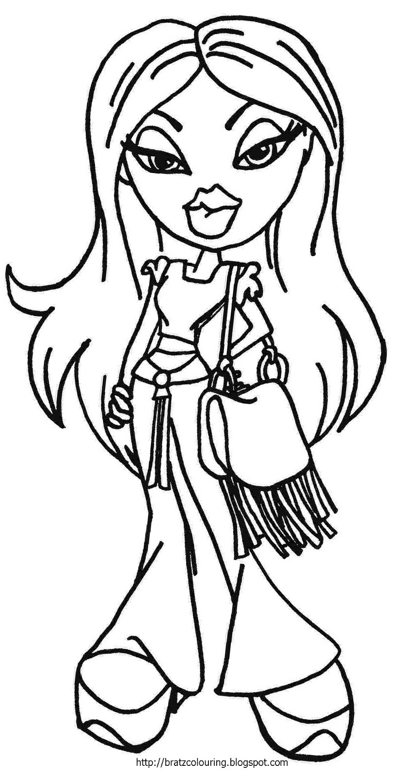 coloring pages bratz dolls - photo#2
