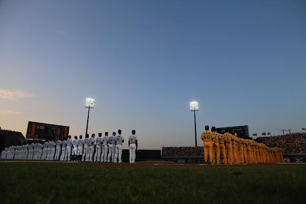 Lamigo 桃猿在今日(10/25)於桃園國際棒球場主場與中信兄弟爭奪中華職棒第 26 屆總冠軍,James Huang 攝影