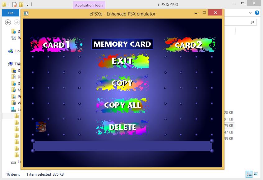 Cara Copy/Delete Game Save ePSXe