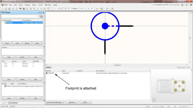 attaching footprint information to schematic symbol