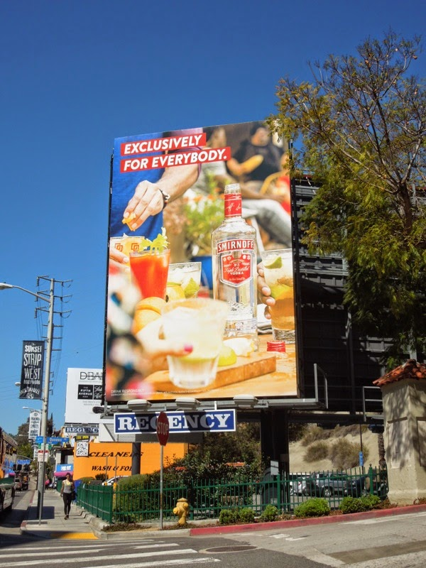 Smirnoff Vodka Exclusively for everybody billboard