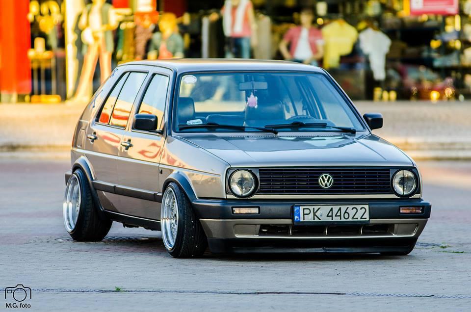 Modified Cars Volkswagen Golf 2 Slammed