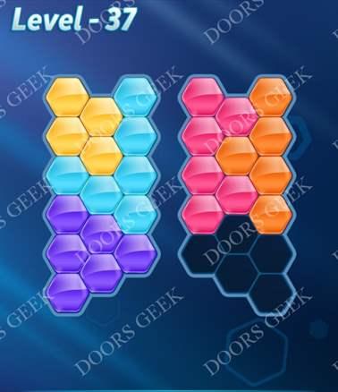 Block! Hexa Puzzle [6 Mania] Level 37 Solution, Cheats, Walkthrough for android, iphone, ipad, ipod