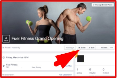how to share an event on facebook page