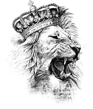 amazing lion crown tattoos