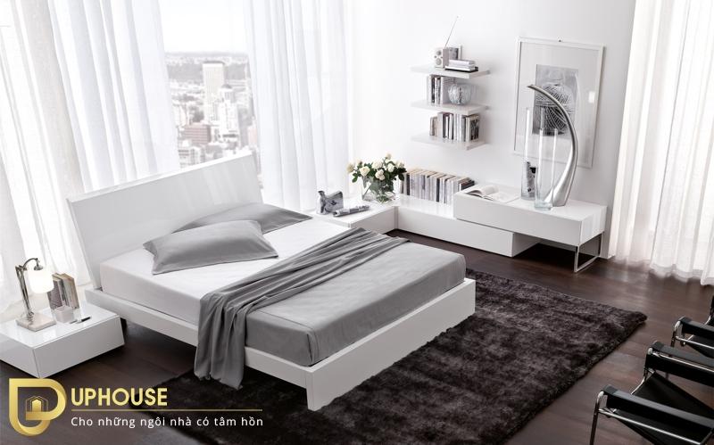 Nội thất phòng ngủ màu trắng 01